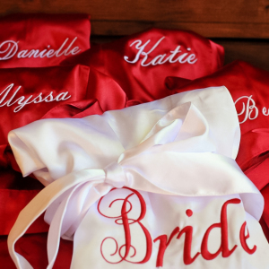 Bride and Bridesmaid Satin Robes