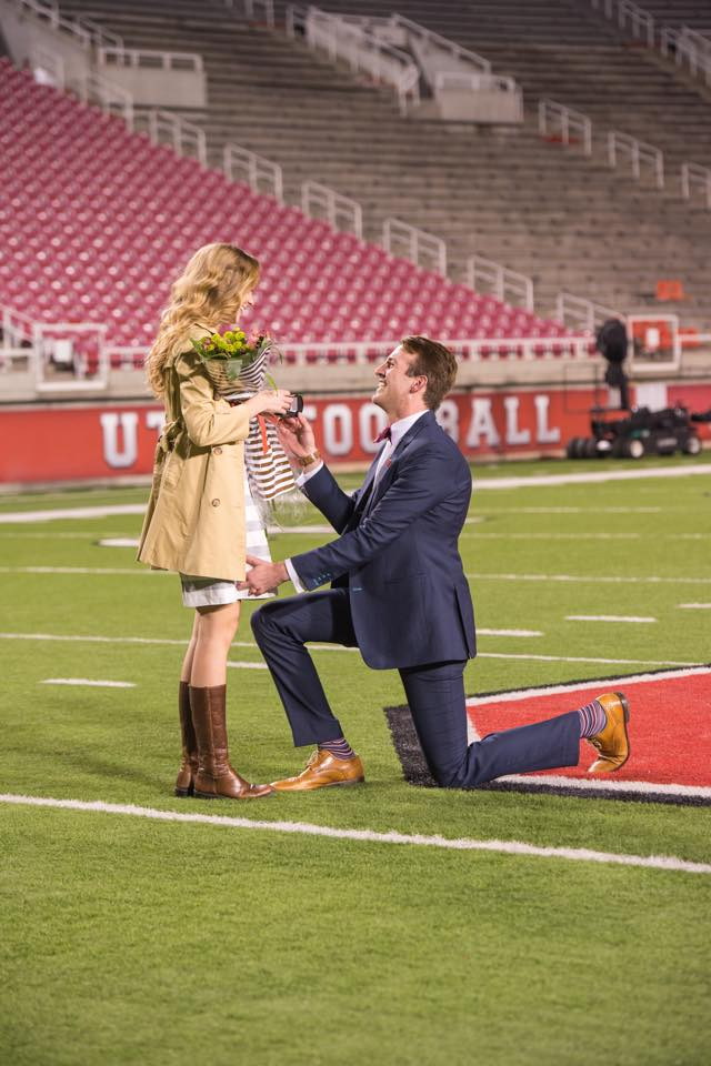 Image 1 of Sarah Jane and Justin's University of Utah Proposal