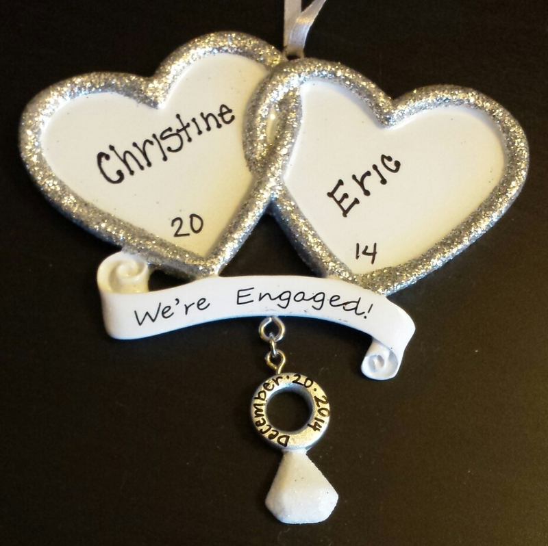 Image 2 of Christine and Eric's Christmas Ornament Proposal