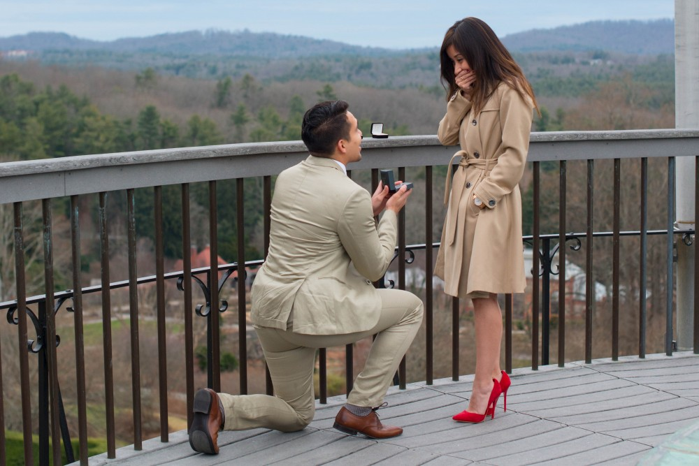 Image 2 of Lily and Isaac | Biltmore Estate Proposal