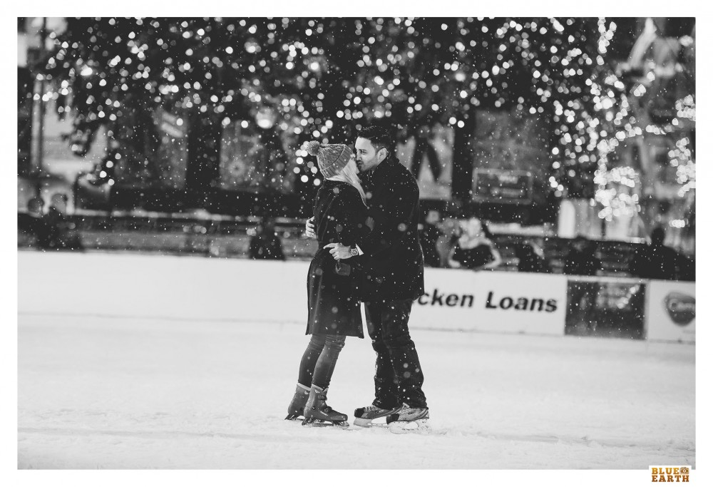 Image 2 of Ali and Alex's Snowy Ice Skating Proposal