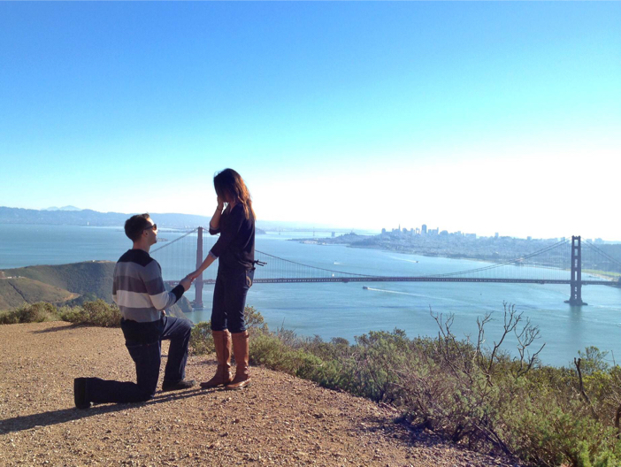 Image 2 of Angelique and Jordan's Proposal at the Golden Gate Bridge