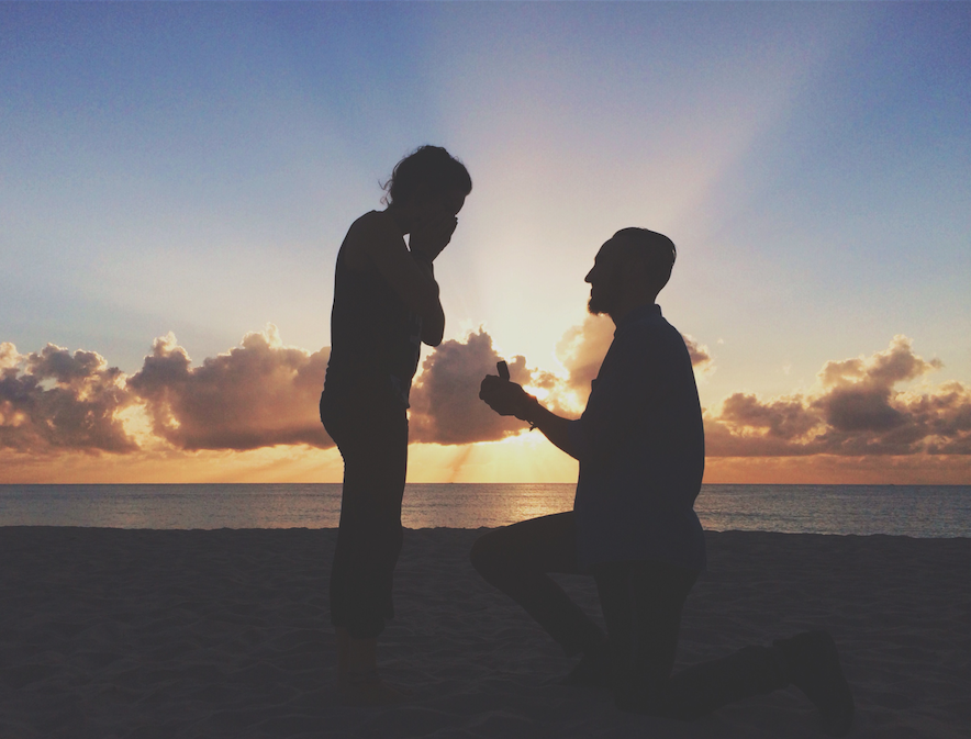 Image 2 of Taylor and Matt's Sunset Proposal