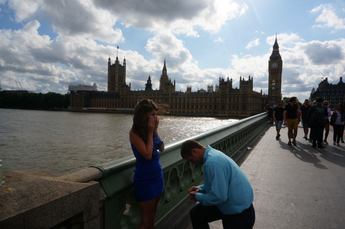 Image 2 of Brittany and Ben's London Proposal