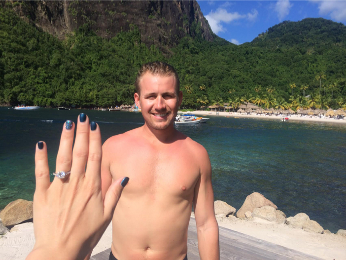 Image 1 of Lia and Stephen's Proposal in St. Lucia