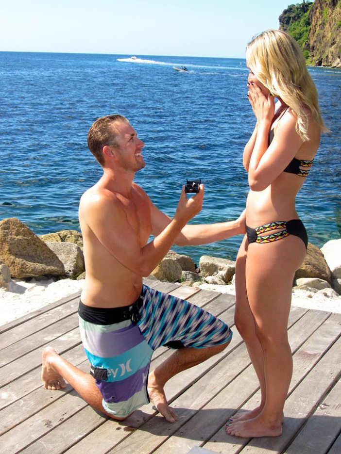 Image 2 of Lia and Stephen's Proposal in St. Lucia