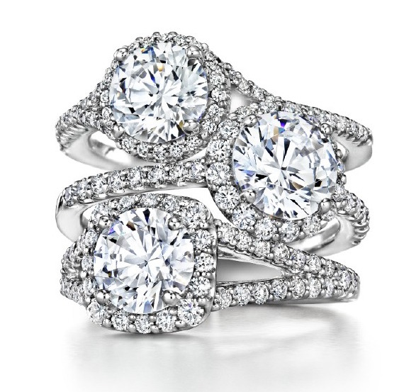 ritani-three-halo-engagement-rings
