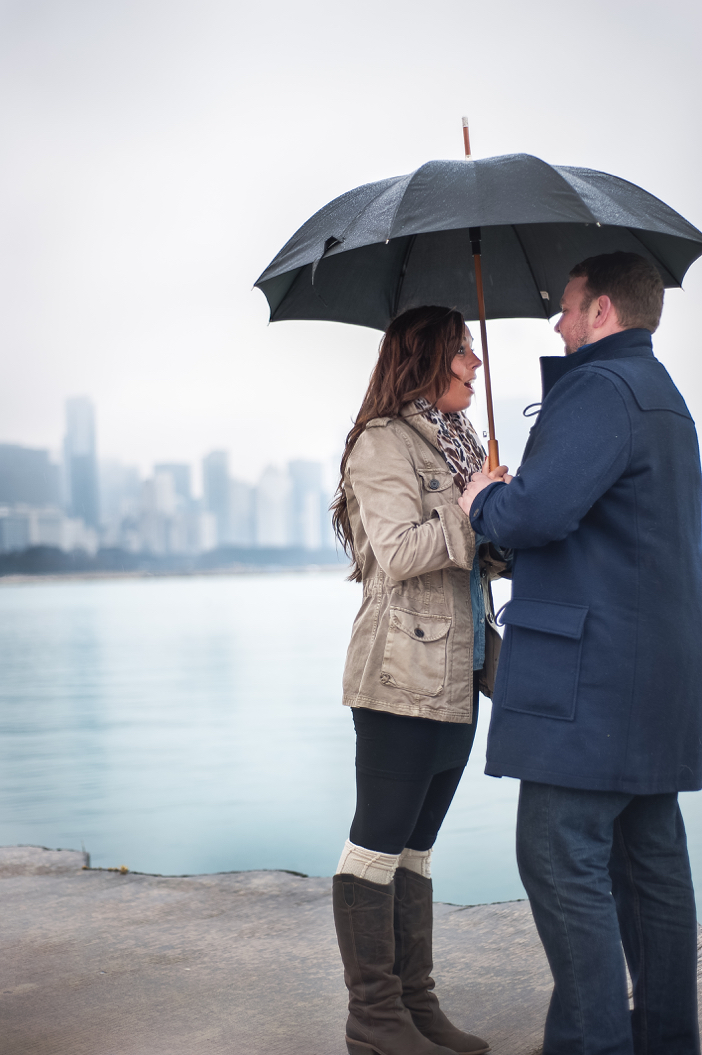 Image 1 of Steve and Brittany's Proposal in Chicago