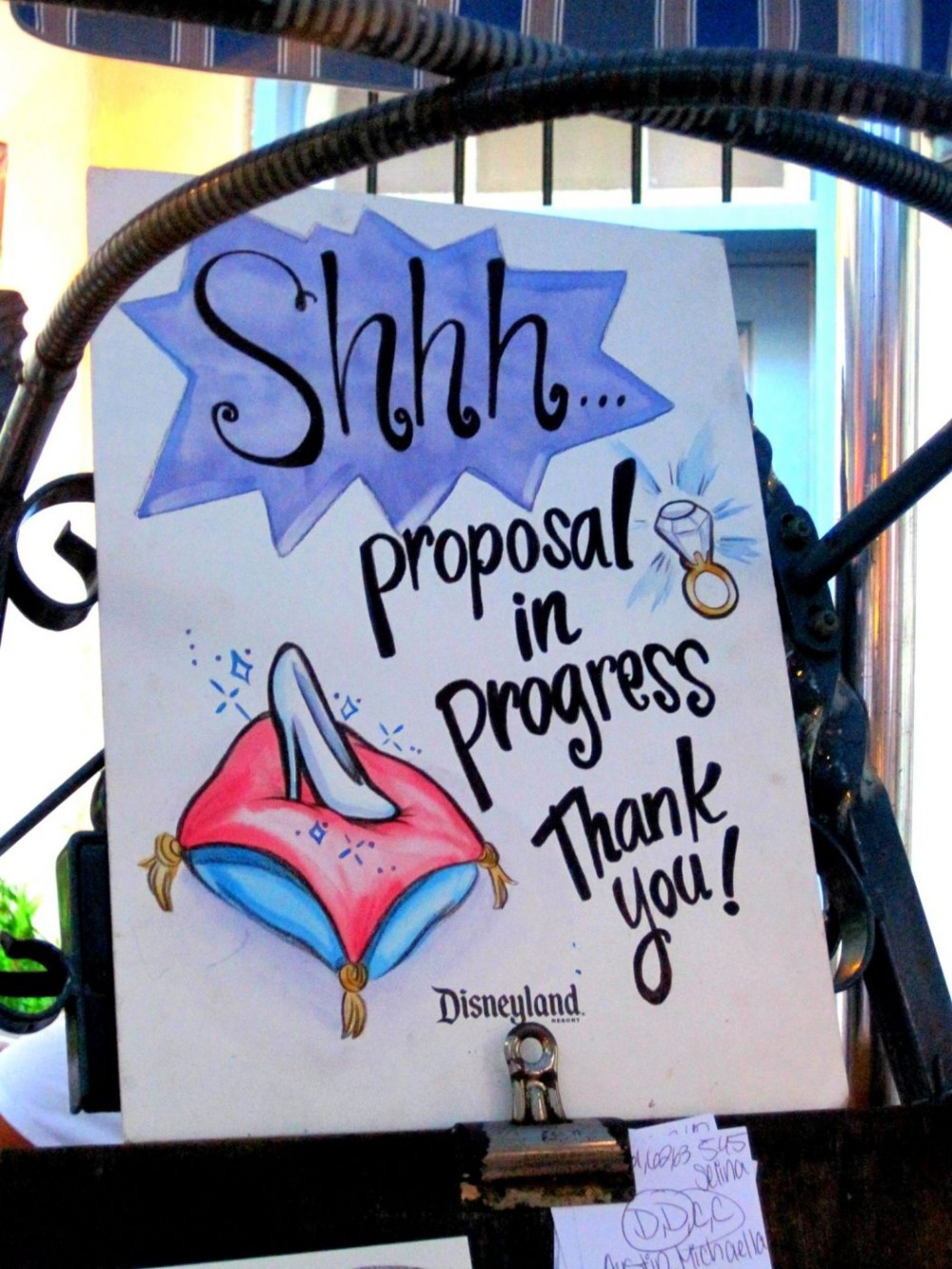 Disney World Caricature Cinderella Proposal_1