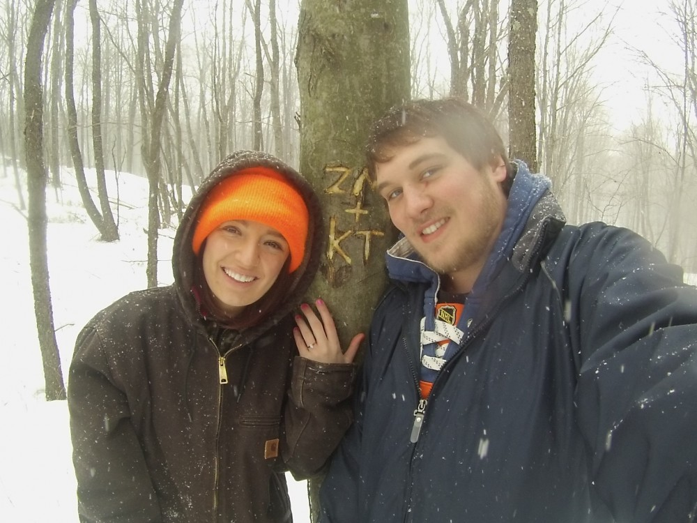 Image 1 of Kaylee and Zach's Snowy Woods Proposal