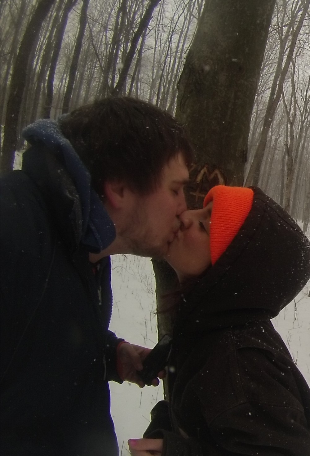 Image 2 of Kaylee and Zach's Snowy Woods Proposal