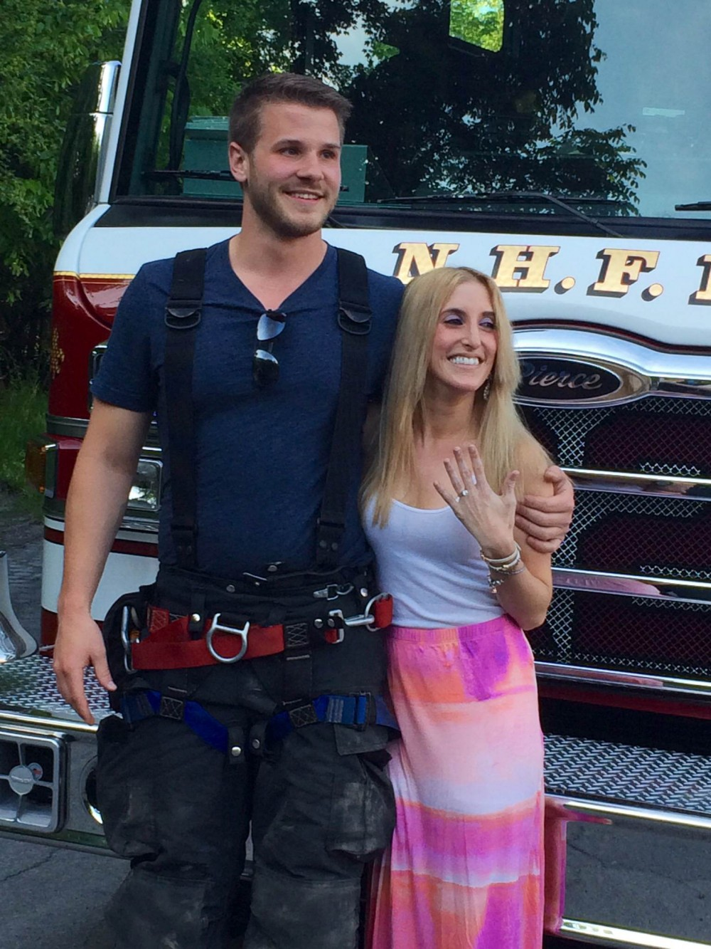 Image 5 of Carly and Brian's Firemen Proposal