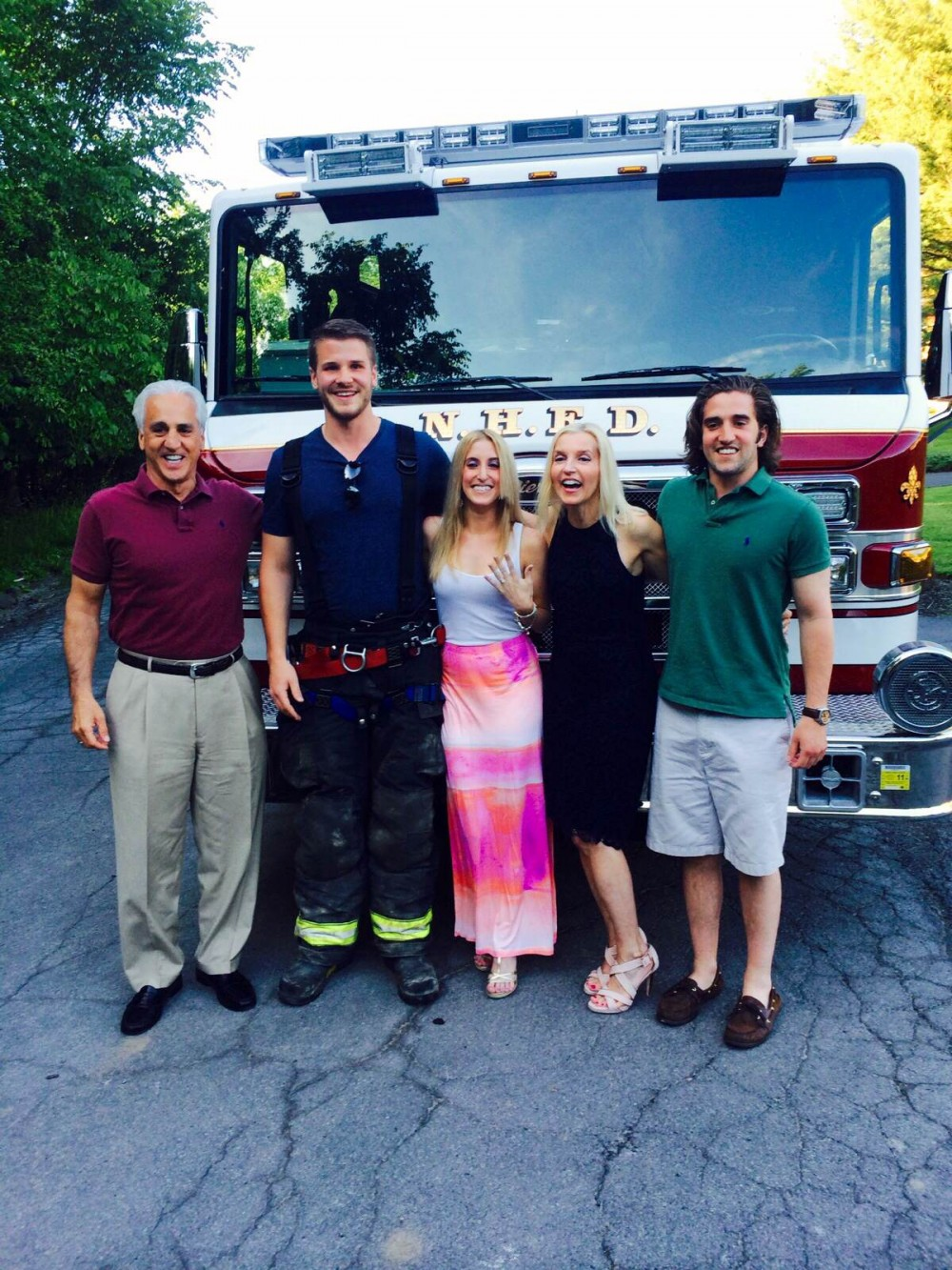 Image 6 of Carly and Brian's Firemen Proposal