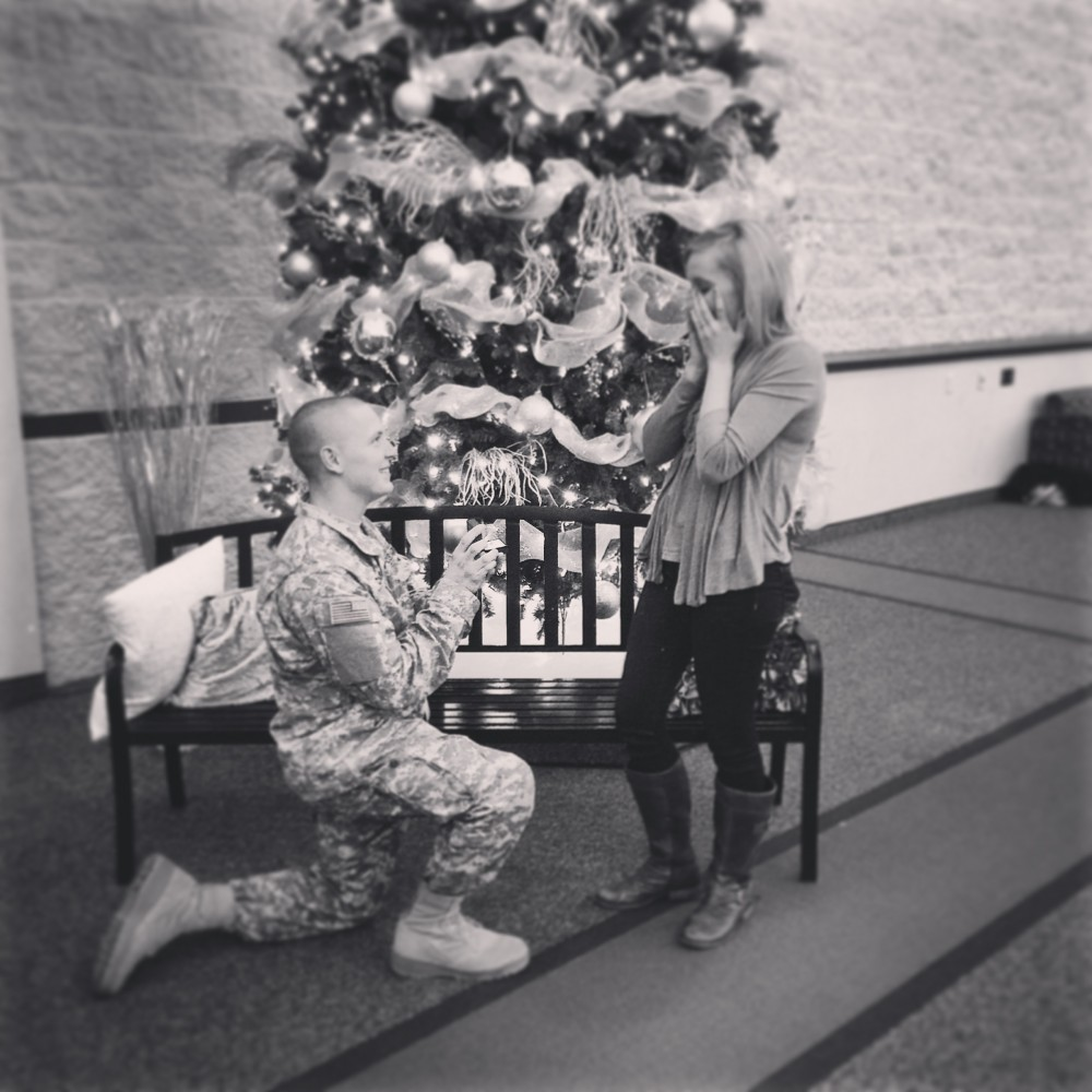 Image 1 of Paige and Adam's Christmas Eve Proposal