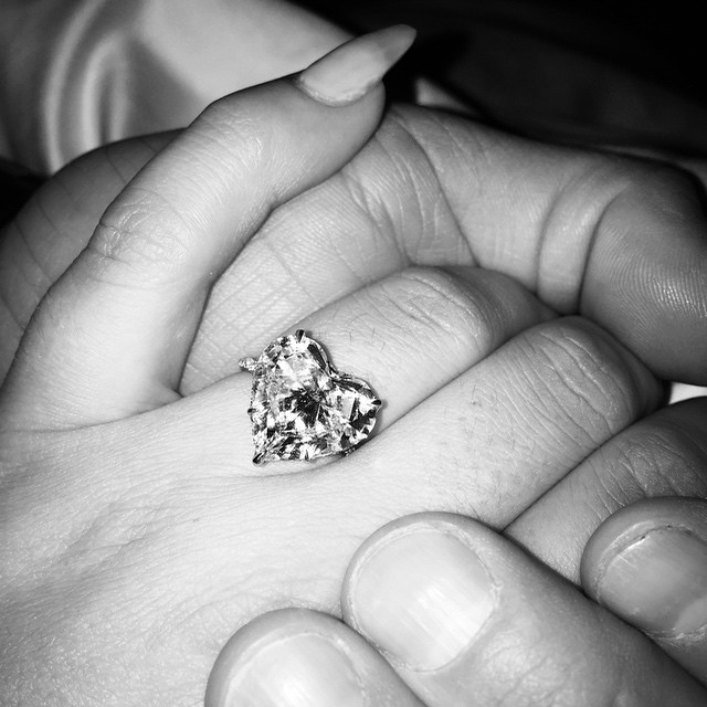 Lady Gaga Heart Engagement Ring