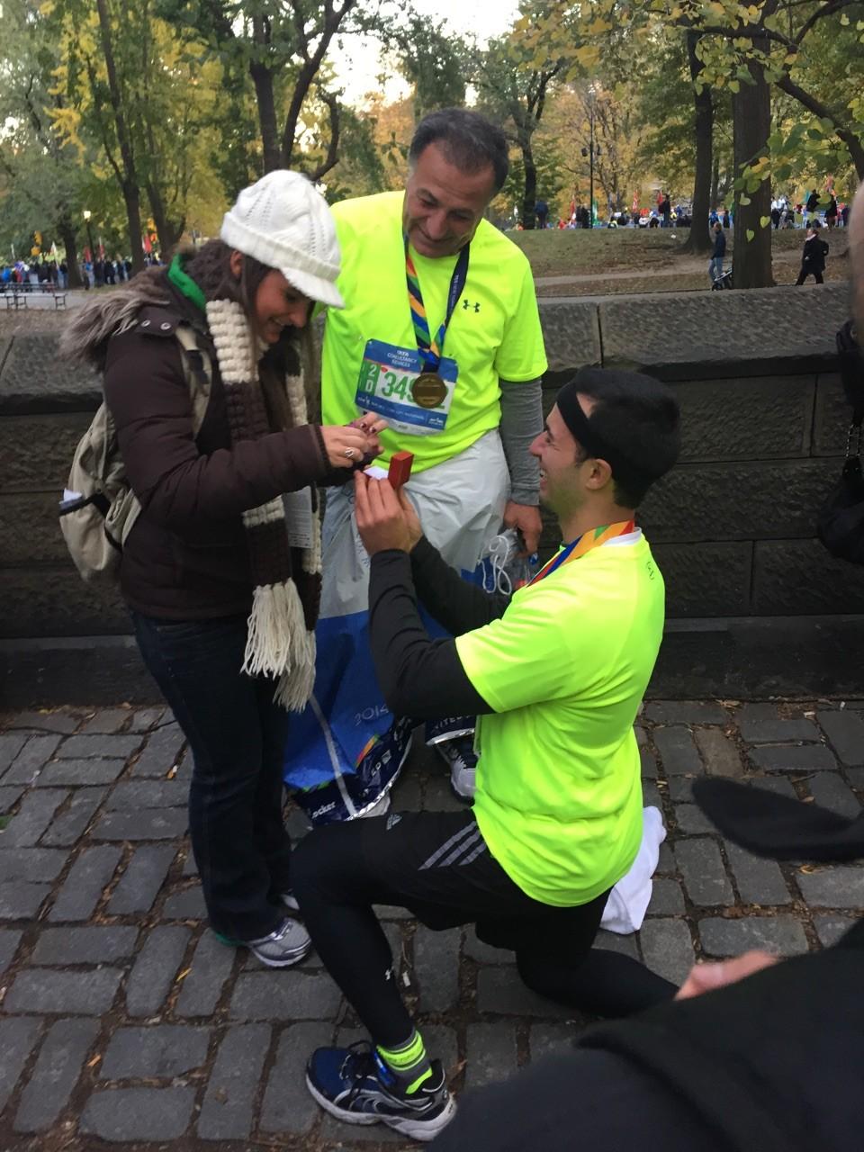 Image 1 of Tina and Freddie   New York City Marathon Proposal
