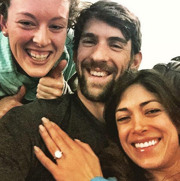 Michael Phelps Nicole Johnson engagement photo