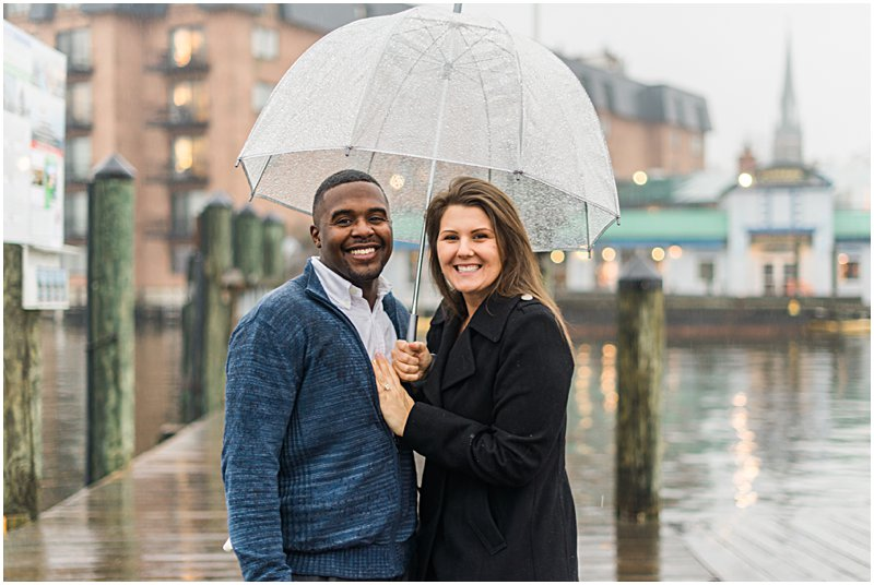 Image 1 of Natalie and Ed's Adorable Rainy Day Proposal