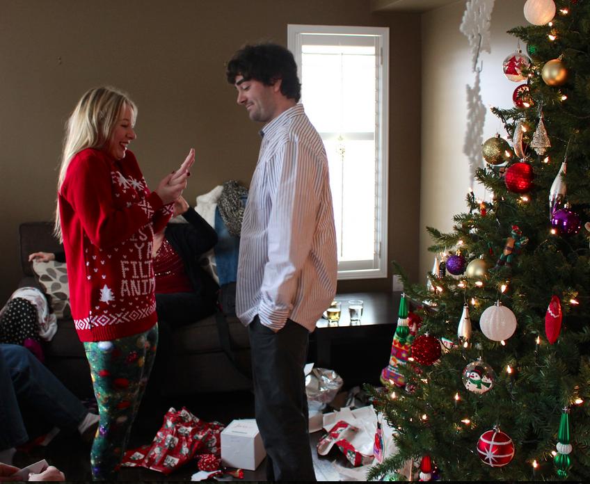 Image 2 of Nicci and Vlad's Christmas Morning Proposal
