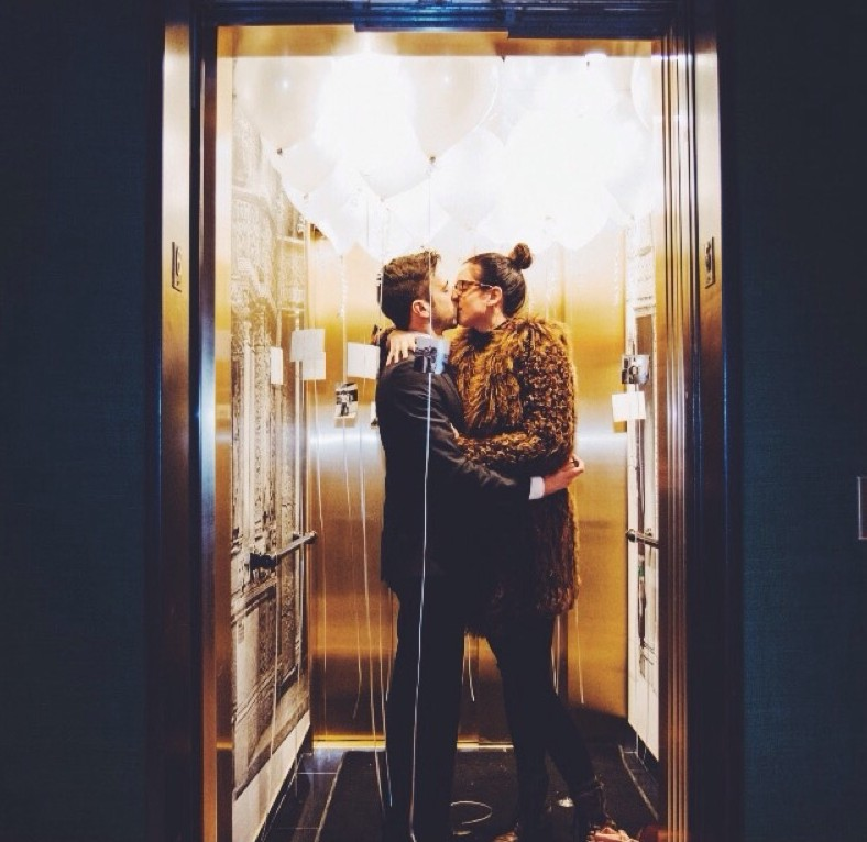 Image 1 of Katy and Adam's Elevator Proposal
