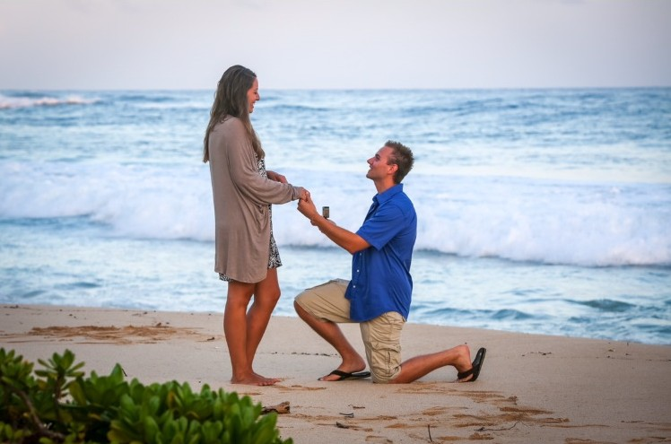 Bride's Proposal in Kauai