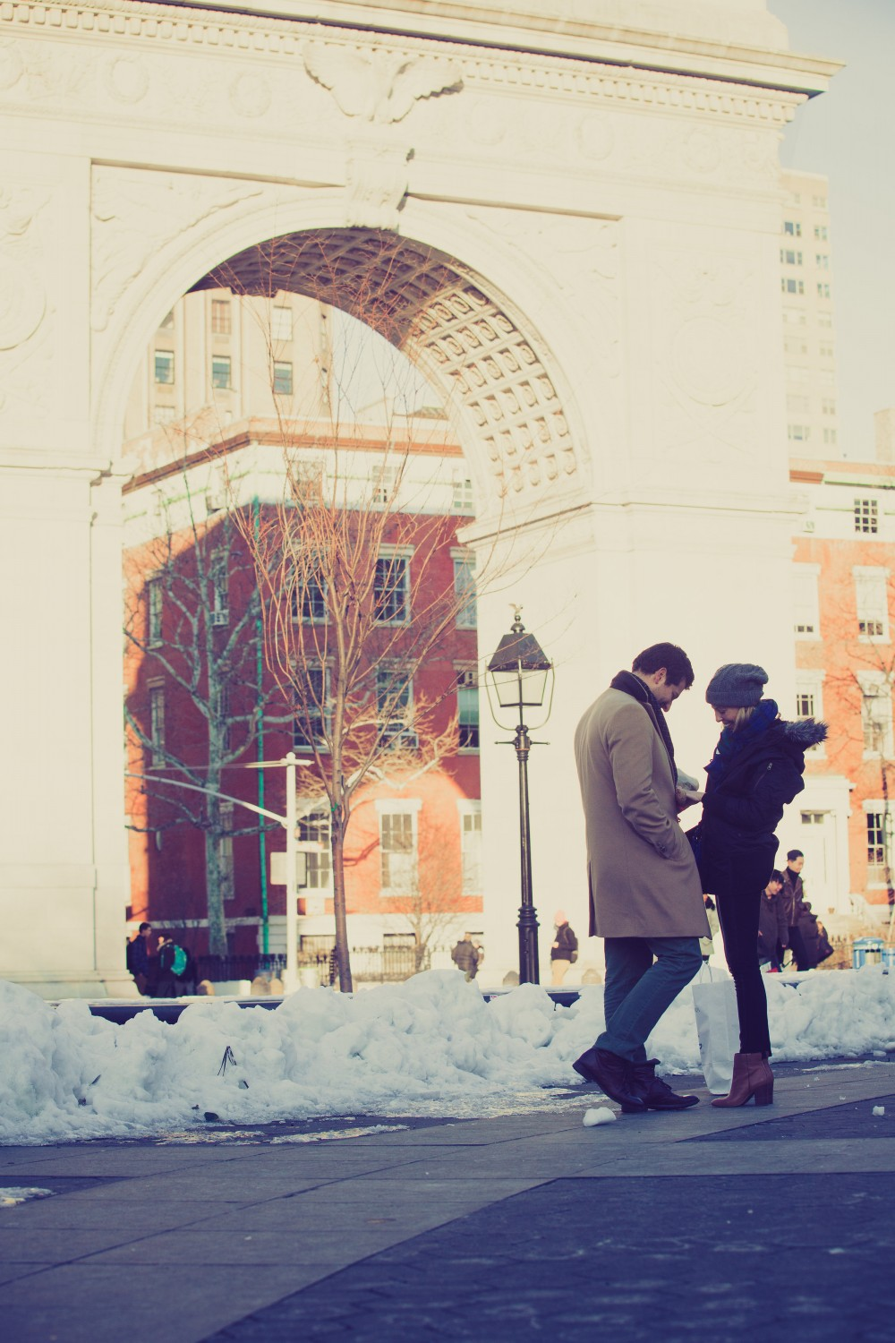 Image 3 of Jessica and Joe's Proposal in Washington Square Park