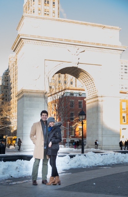 Image 1 of Jessica and Joe's Proposal in Washington Square Park