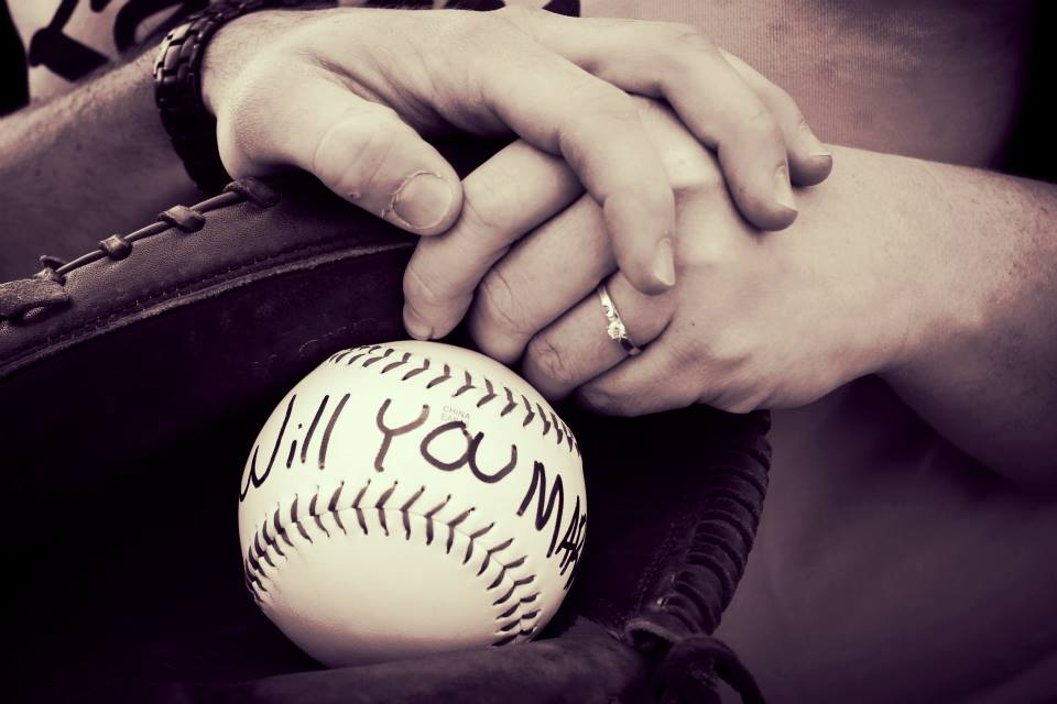 Image 3 of Courtney and Chris's Baseball Proposal
