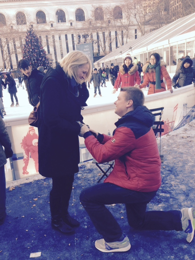 Image 4 of Kiera and Robbie's Proposal in Bryant Park