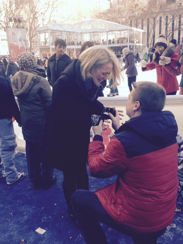 Image 2 of Kiera and Robbie's Proposal in Bryant Park