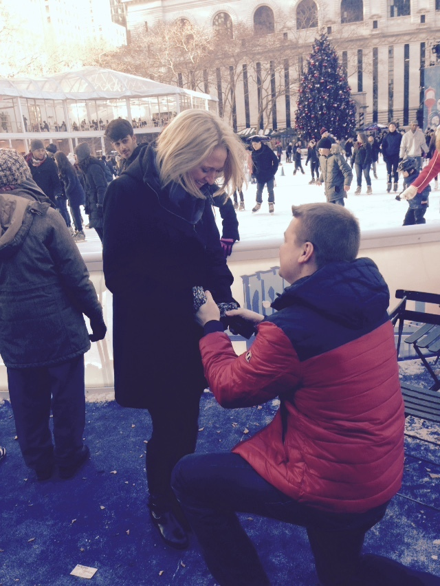 Image 3 of Kiera and Robbie's Proposal in Bryant Park