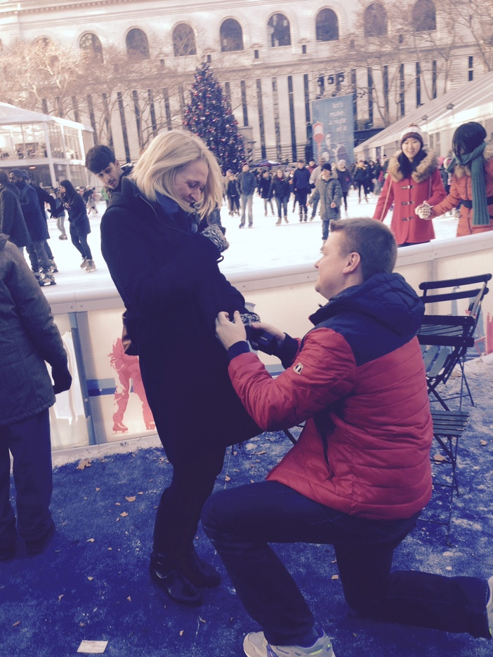Image 1 of Kiera and Robbie's Proposal in Bryant Park