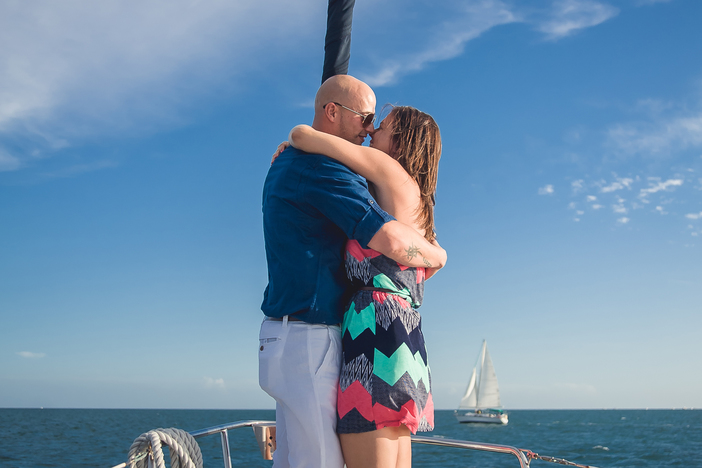 Image 1 of Whitney and Jean's Sailboat Proposal