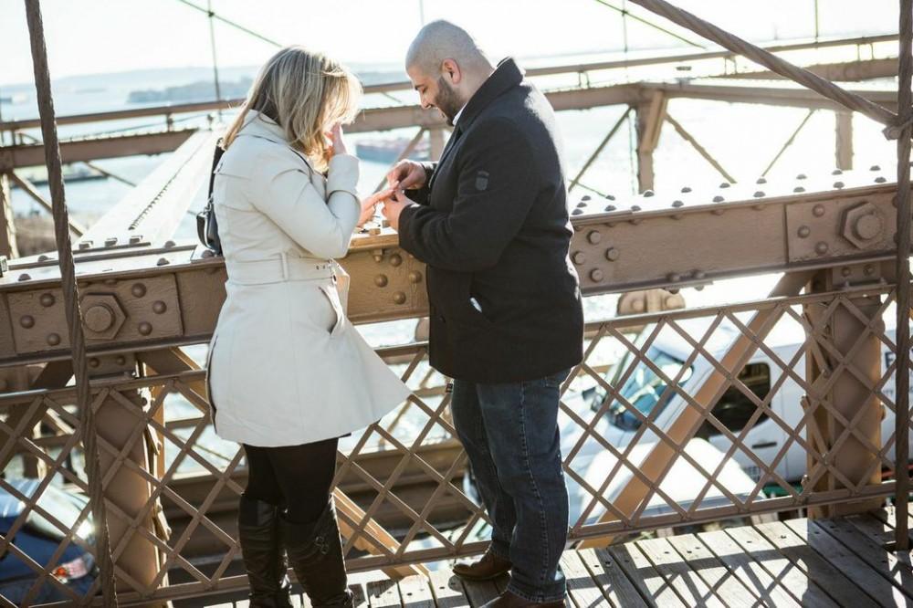 Brooklyn Bridge Marriage Proposal