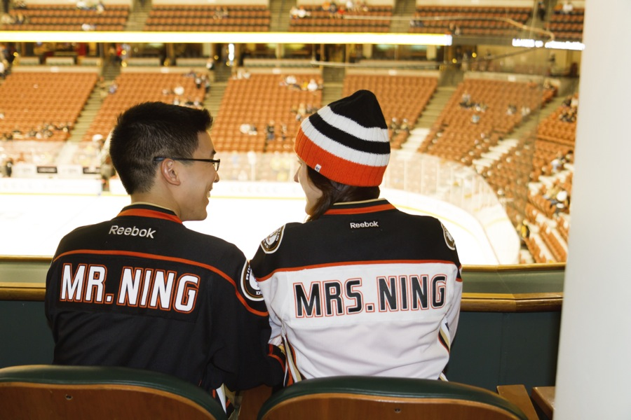 Image 7 of Candice and Lance's Adorable Proposal at a Ducks Game