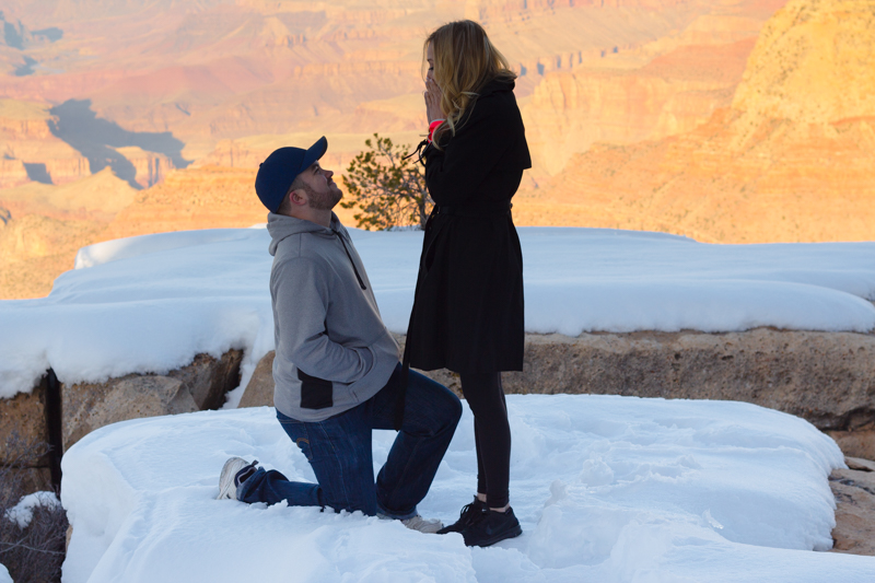 Image 3 of Marissa and Anthony's Proposal at the Grand Canyon