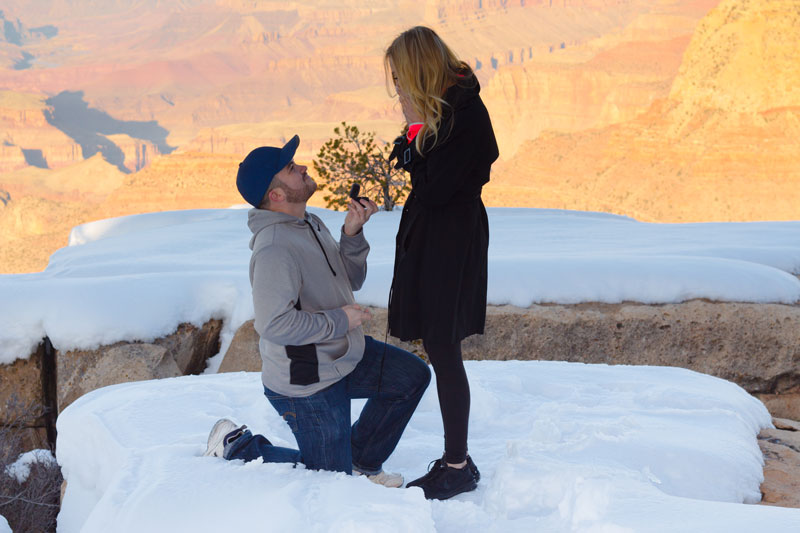 Image 4 of Marissa and Anthony's Proposal at the Grand Canyon