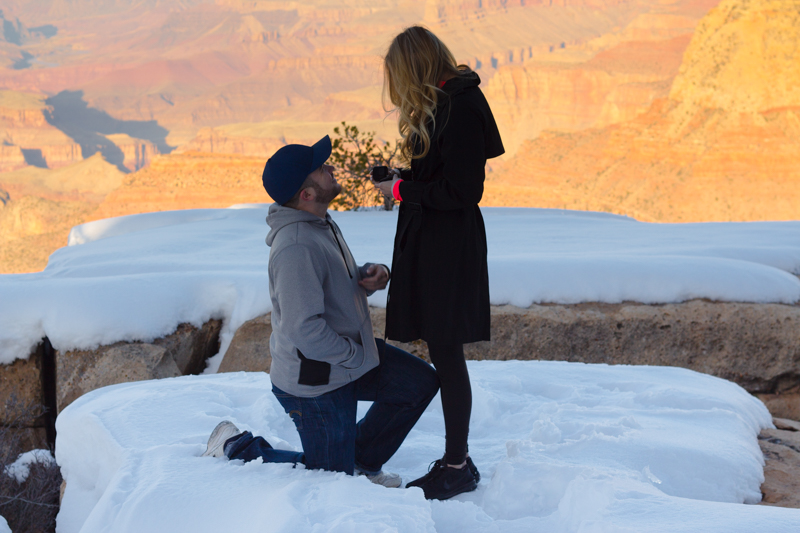 Image 5 of Marissa and Anthony's Proposal at the Grand Canyon