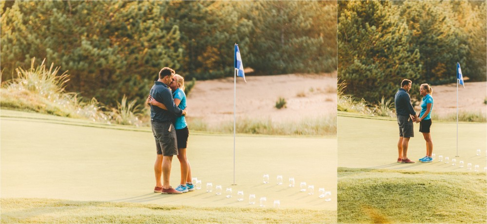 Image 4 of Adorable Proposal at the 18th Hole