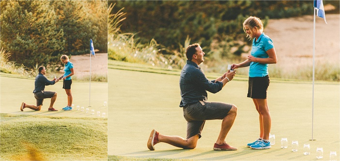Image 3 of Adorable Proposal at the 18th Hole