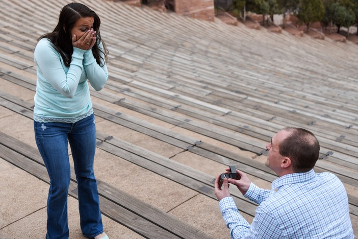 Marriage proposal at red rocks_1
