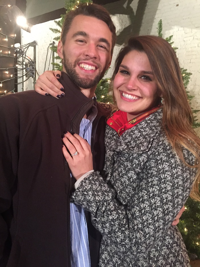 Image 1 of Sarah and Cody's Christmas Light Proposal
