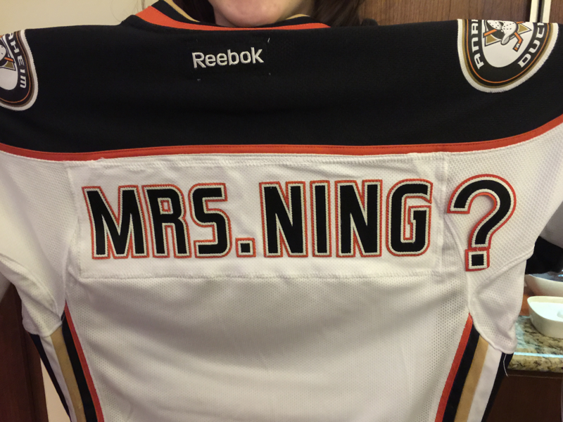 Image 2 of Candice and Lance's Adorable Proposal at a Ducks Game