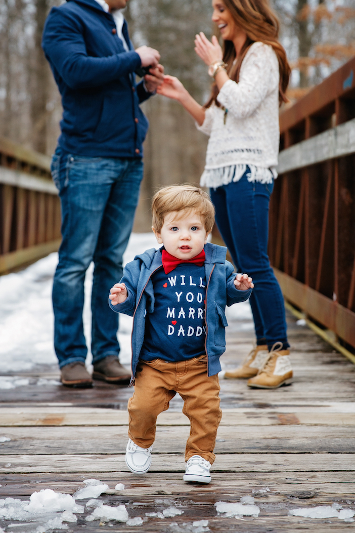 Image 10 of The Cutest One Year Old Helps Dad Propose To His Mom