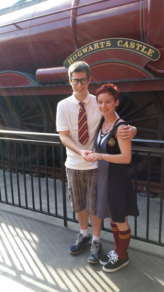 Image 1 of Stephanie and David's Marriage Proposal on the Hogwart's Express