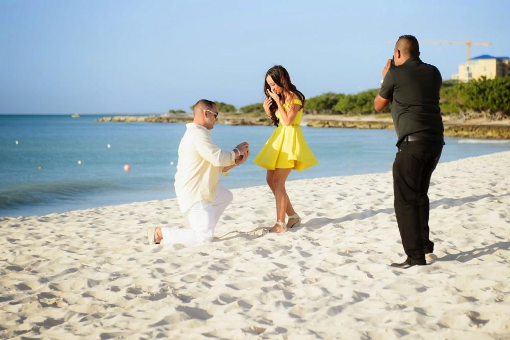Image 2 of Amanda and Brendan's Proposal in Aruba