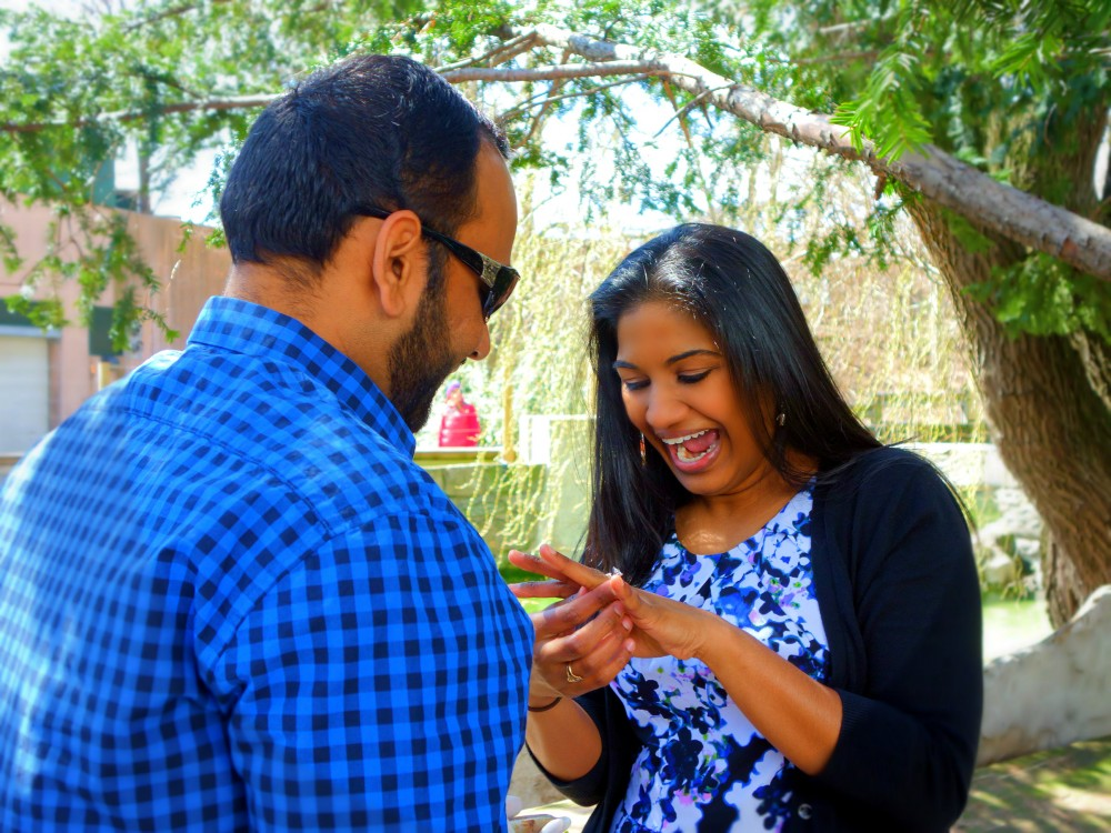 Image 6 of Jill and Vik's Proposal at the Philadelphia Zoo