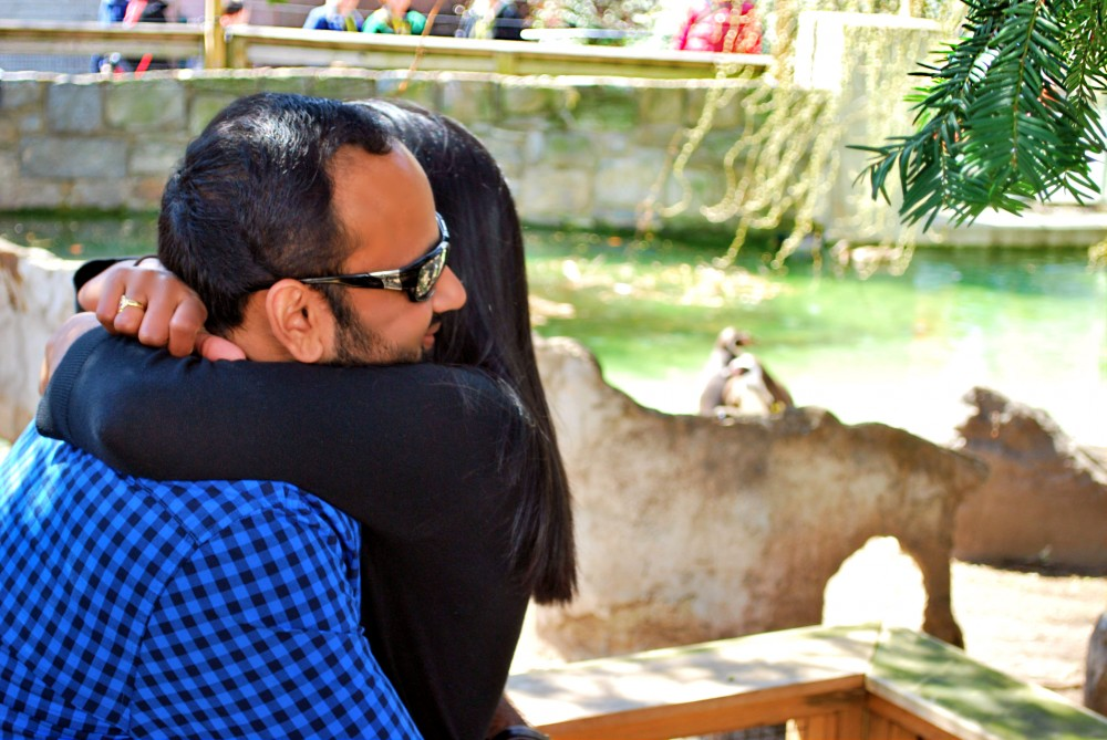Image 7 of Jill and Vik's Proposal at the Philadelphia Zoo