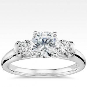 Eternal Three Stone Diamond Engagement Ring