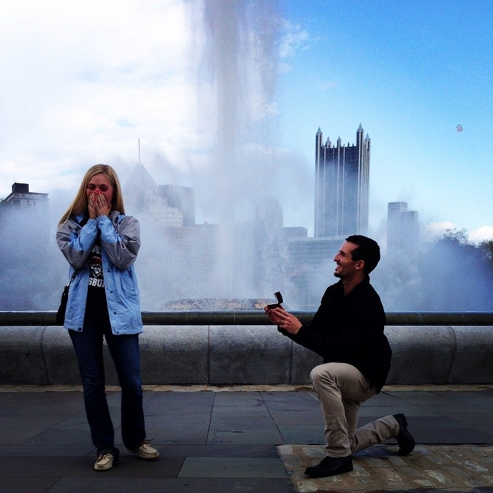 Image 2 of Ashley and David's Marriage Proposal in Pittsburgh